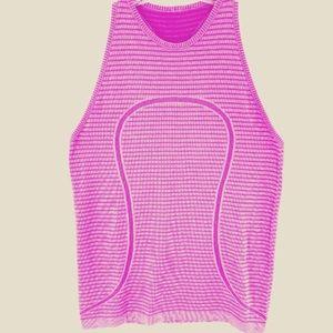 Lululemon Run Swiftly Tank Sz 12 Pink/Purple
